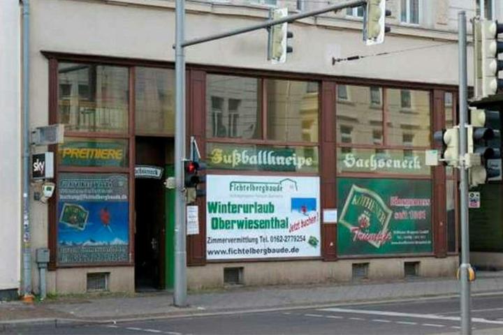 """Der Tatort: In der Leipziger Fußballkneipe """"Sachseneck"""" endete die Geburtstagsfeier blutig."""