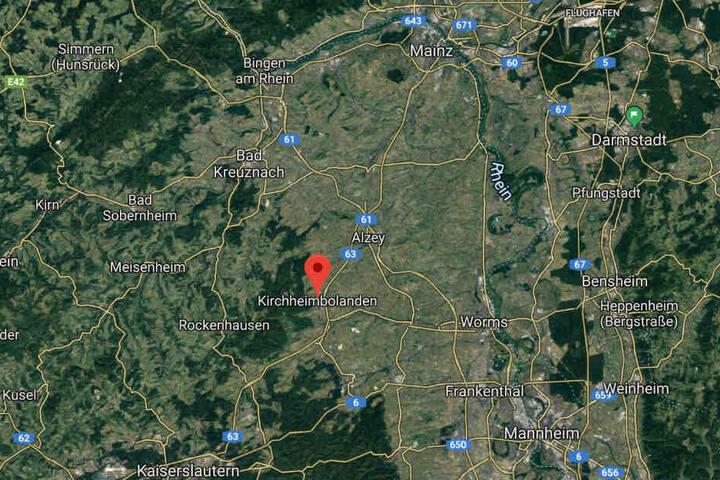 Der Vorfall ereignete sich in Kirchheimbolanden im Südosten von Rheinland-Pfalz.