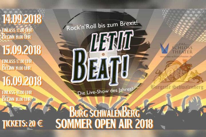 Rock´n´ Roll- Stimmung beim Sommer Open Air auf der Burg Schwalenberg.