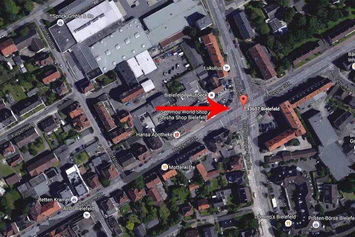 Auf der großen Kreuzung in Bielefeld kam es zu einem schweren Unfall.