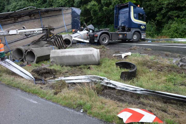 Die Unfallstelle sah aus wie ein Schlachtfeld.