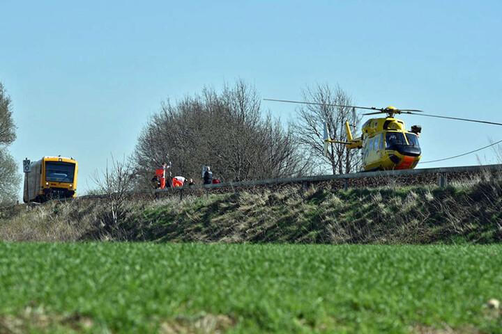 Mit dem Rettungshubschrauber ging es in ein Dresdner Krankenhaus.