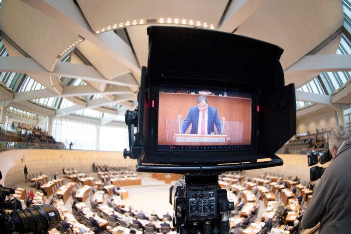 Eine Sitzung des NRW-Landtags in Düsseldorfs.