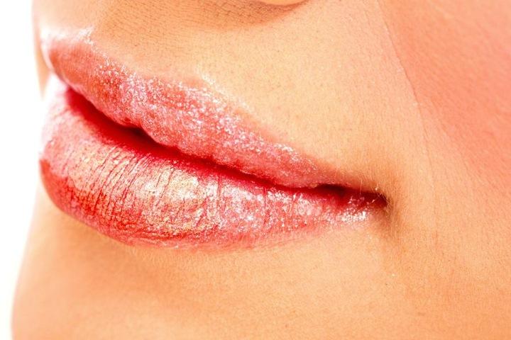 Lippen mit Glitzereffekt sind wieder voll in.
