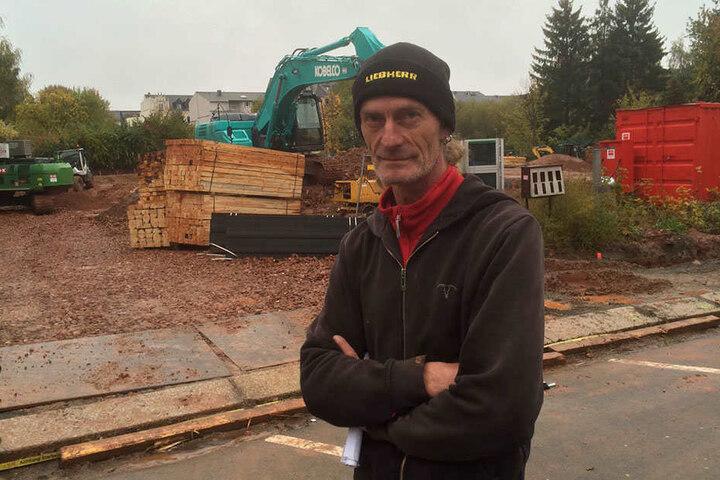 Baggerfahrer Sven Schuster entdeckte die Bombe.