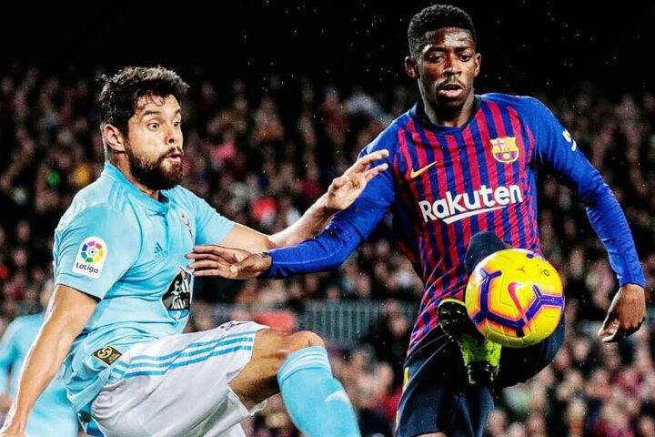 Youngster Ousmane Dembélé (r.) steht aktuell beim FC Barcelona in Spanien unter Vertrag.