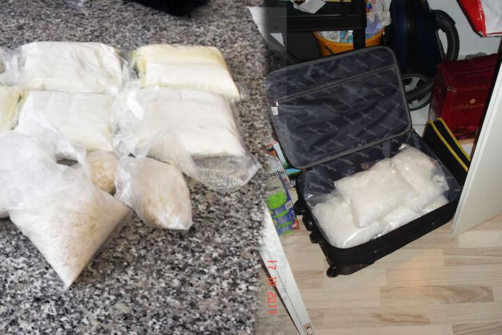 Insgesamt sieben Kilogramm Crystal und acht Kilogramm Amphetaminpaste wurden entdeckt.