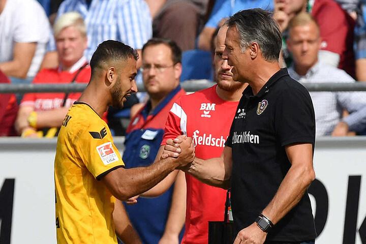 Mit den Auftritten von Akaki Gogia (l.) war Trainer Uwe Neuhaus zuletzt nicht  durchweg einverstanden.