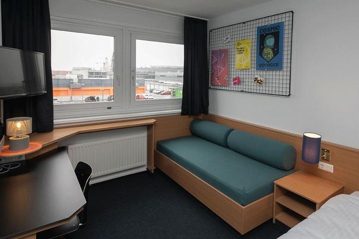 """Verschiedene Elemente des Ibis """"Lilienstein"""" wurden in den insgesamt 306 Zimmern des neuen Hotels wieder aufgegriffen."""