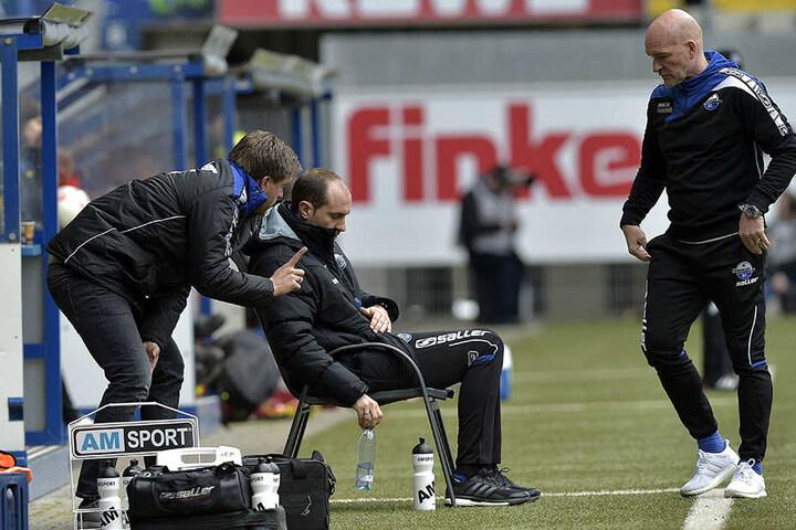 Markus Krösche will mit Stefan Emmerling als Trainer den Klassenerhalt schaffen.