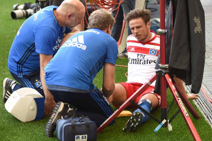 HSV-Spieler Nicolai Müller riss sich bei seinem Torjubel das Kreuzband und fehlt damit mehrere Monate aus.