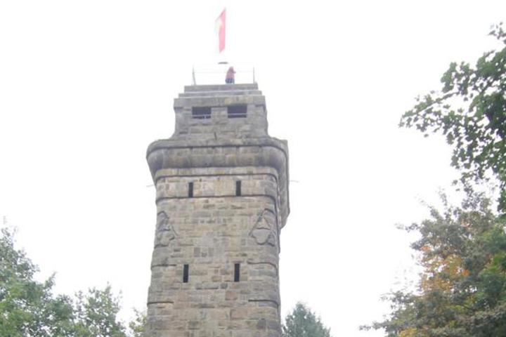 Der Bismarckturm ist 23 Meter hoch und oben angekommen habt Ihr einen tollen Ausblick.