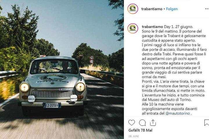Die Italiener berichten auch im Internet über die DDR-Erinnerungstour.