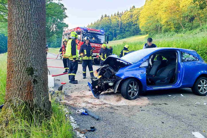 Die Fahrerin wurde schwer verletzt.