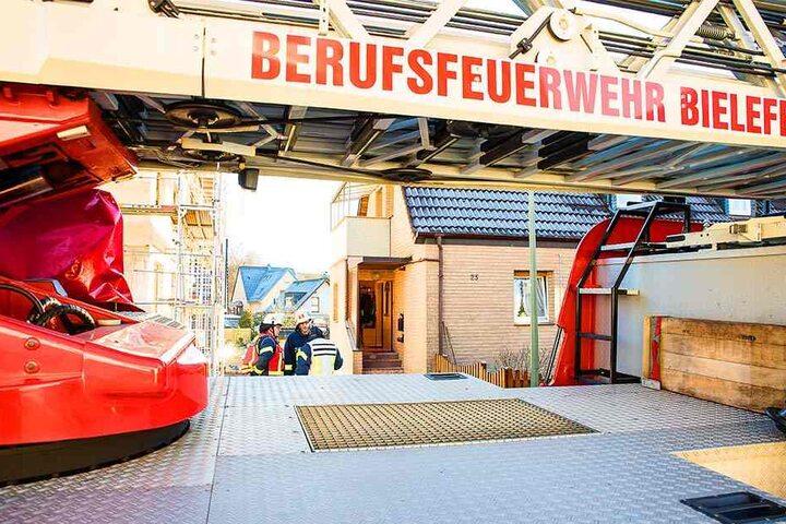 Die Berufsfeuerwehr Bielefeld kam zum Einsatz.