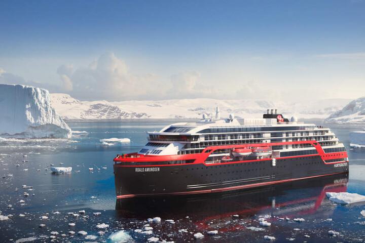 """Die """"Roald Amundsen"""" sticht 2018 in See."""