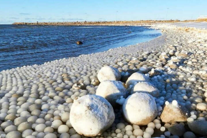 Die Eisbälle waren teilweise so groß wie ein Fußball.