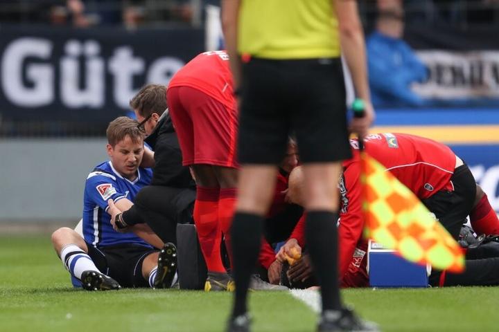 Auch Cedric Brunner verletzte sich im OWL-Derby.