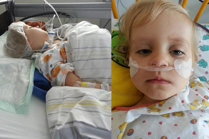 Schläuche, Infusionen, Apparate: Lia hat schon eine gewisse Klinik-Routine,  musste bereits mehr als 40 Operationen über sich ergehen lassen.