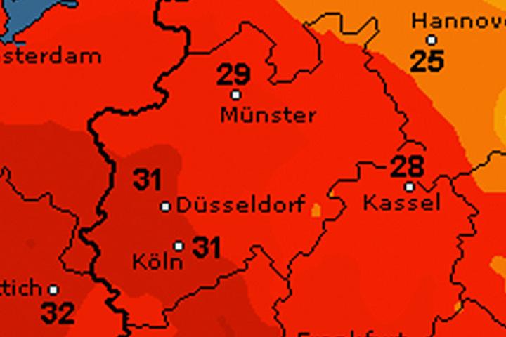 Es wird richtig warm in OWL! Vor allem am Montag erwarten uns Temperaturen von bis zu 29 Grad.