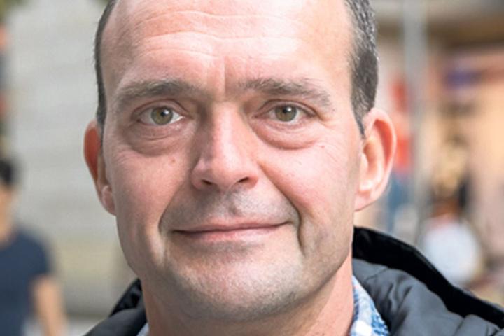 """Sascha Bochmann (44), der für ein Transportunternehmen in Zwickau arbeitet, ist sich bei seiner Wahl sicher: """"Uns geht es gut. Ich kann mich nicht beschweren. Ich wähle CDU. Eine Alternative gibt es nicht."""""""