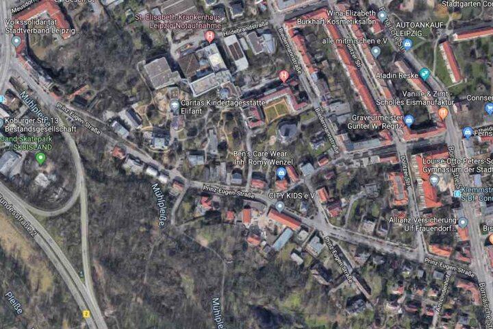 Der Mann wurde in einem Hinterhof der Prinz-Eugen-Straße gefasst.