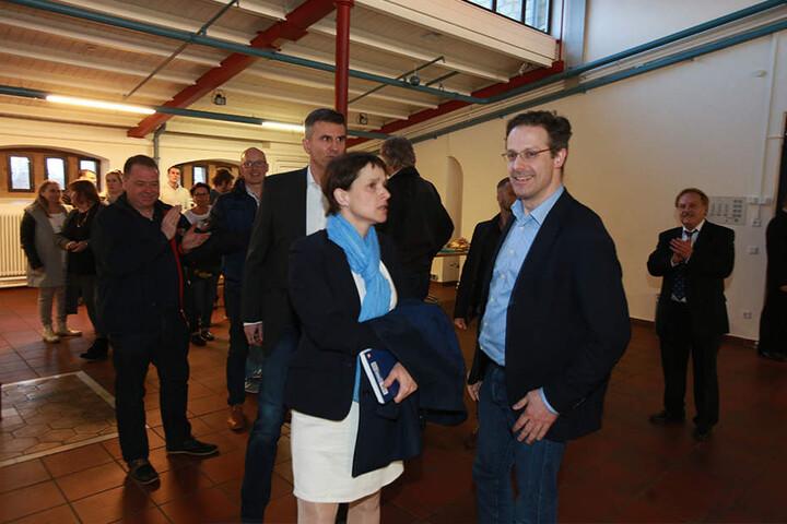 Frauke Petry und Marcus Pretzell in der Ravensberger Spinnerei.
