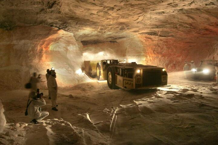 Im thüringisch-hessischen Grenzgebiet wird in mehreren Werken Kali abgebaut.