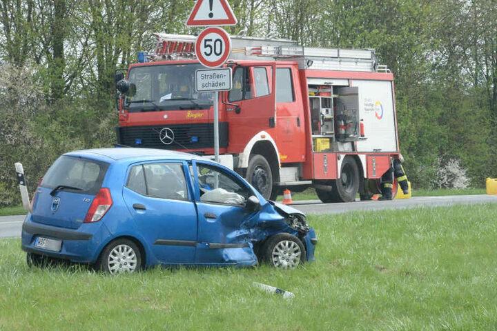 Der Hyundai schleuderte von der Straße.