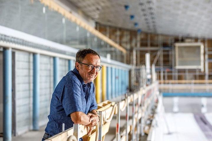 Projektsteuerer Karl-Heinz Anger (60) hat das Baustellenende allmählich im Blick.