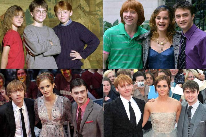 Auch Daniel Radcliffe (heute 28, Harry Potter), Rupert Grint (29, Ron Weasley) und Emma Watson (27, Hermione Granger) haben sich während der Filme stark verändert (2000 bis 2011).
