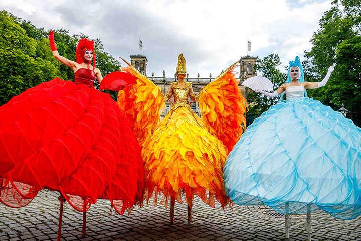 Atemberaubende Kostüme waren das optische Highlight der Veranstaltung.