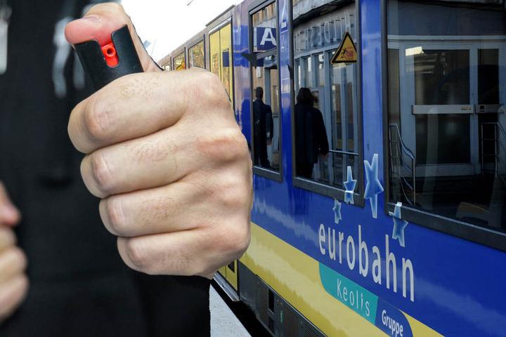 Die Reizgas-Attacke geschah in einem Zug der Eurobahn. (Symbolbild)