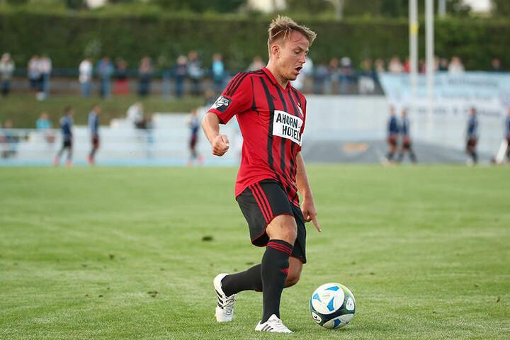 Fabian Stenzel stand gegen den FSV Zwickau zum zweiten Mal in dieser  Saison in der CFC-Anfangself.