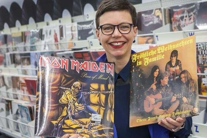 Ob Metal oder Weihnachtslieder mit Frank Schöbel: Mandy Straube (45) liebt Schallplatten.