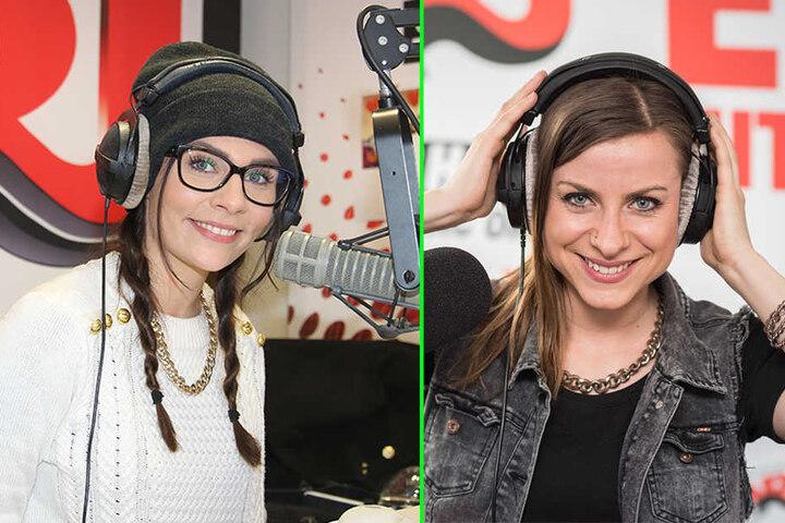 Sie halten tapfer die Stellung: Natali (l.) und Jenna (r.).