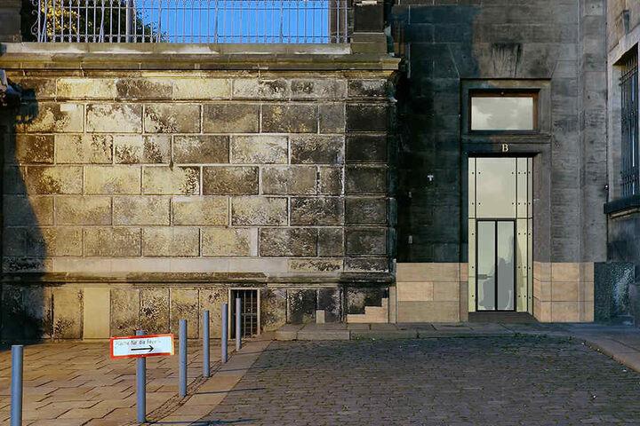Visualisierung des Aufzugs zur Brühlschen Terrasse.