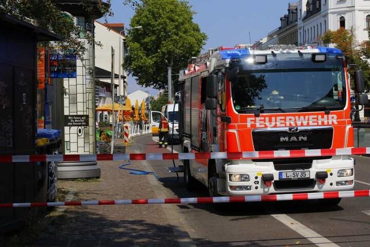 Bei Bauarbeiten war eine Gasleitung angebohrt worden.