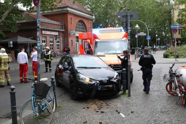Der Unfall ereignete sich direkt an der S-Bahnstation Sonnenallee.