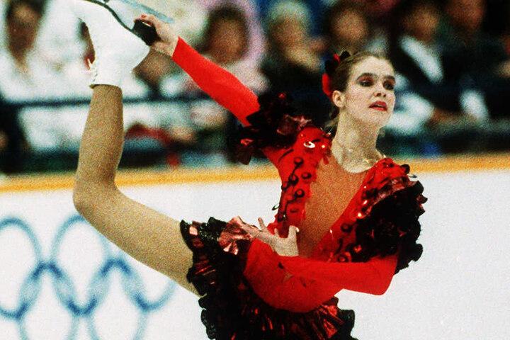 Katarina Witt bei den Olympischen Spielen 1988 in Calgary.