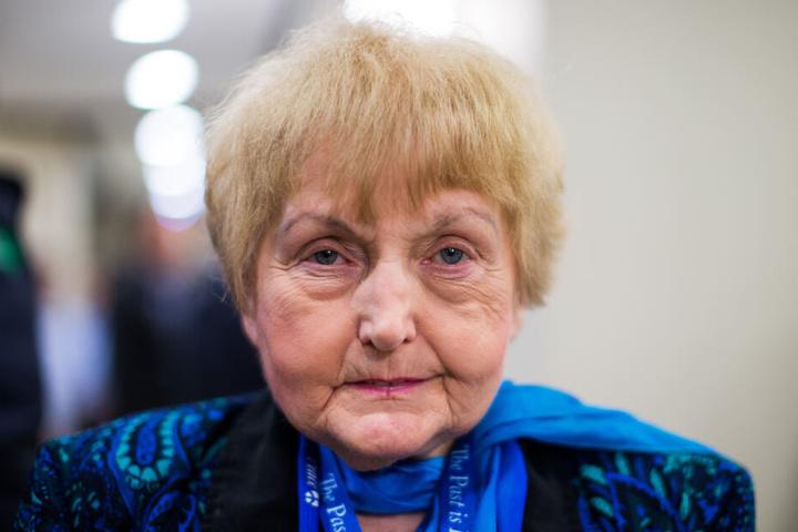 Die Auschwitz-Überlebende an ihrem 70. Geburtstag.