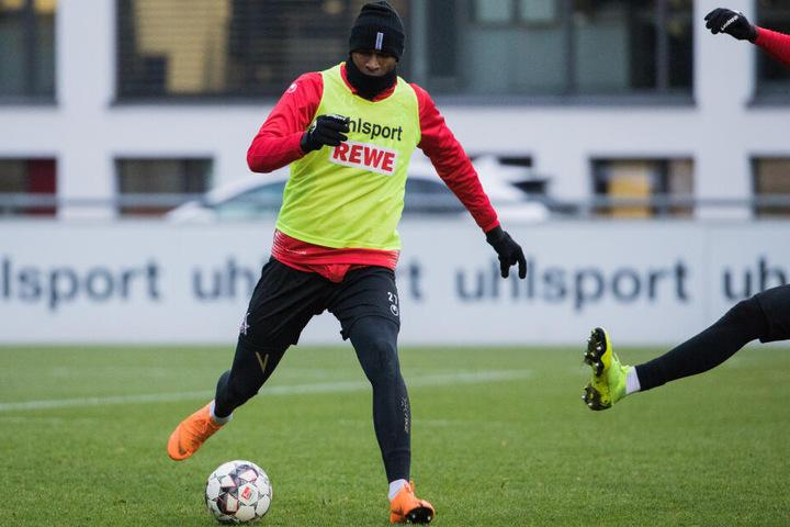 Anthony Modeste Nimmt zwar seit November 2018 am Training des 1. FC Köln teil, spielberechtigt ist er aber noch immer nicht.