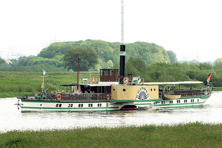 """Der PD """"Krippen"""" ging vor 125 Jahren auf Jungfernfahrt."""