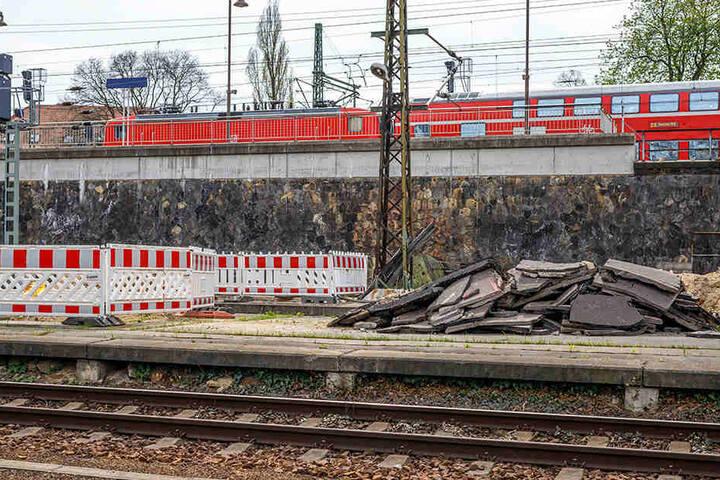 Am Gleis 11 laufen schon die ersten Arbeiten.