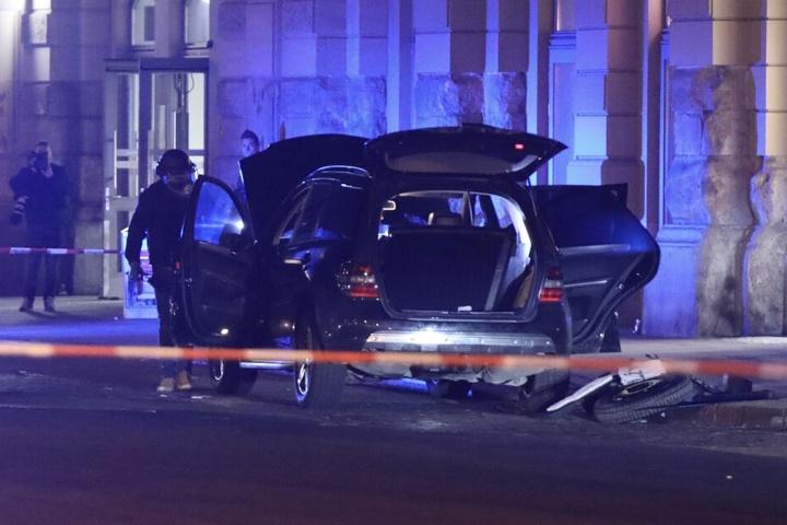 Am 18. Februar parkten die Verdächtigen hinter dem Dresdner Hauptbahnhof.