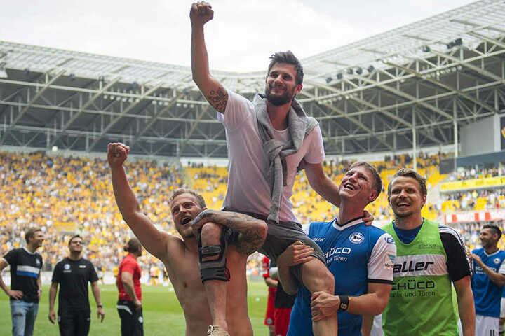 Auch zum Saisonabschluss war Nöthe bei der Mannschaft, um sie in Dresden zu unterstützen.