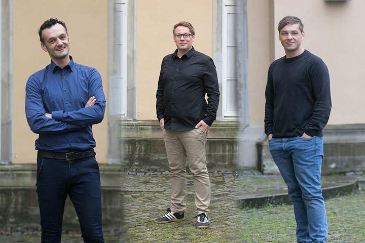 Manuel Krstanovic, Michael Kuh und Andreas Köhler (v.l.n.r.) in Zivil.