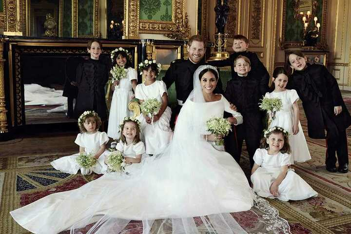 Hier sieht man Meghan (36) und Harry (33) mit den royalen Kindern.