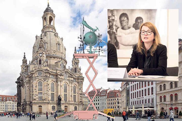 Kulturbürgermeisterin Annekatrin Klepsch (39) stellte am Dienstag im Kulturrathaus Kunstwerk und Künstler der Öffentlichkeit vor.