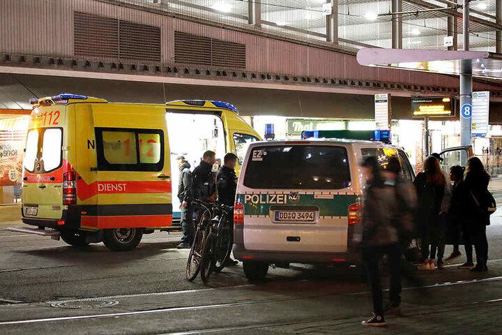 Die Radfahrer wurden vom Rettungsdienst behandelt.